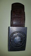 BOUCLE DE CEINTURON Wh WW2 denazifie avec sa languette en cuir