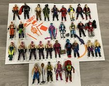 GI Joe Vintage Lot Of 30 Cobra Figures Big Boa Croc Master Ninjas Scrap Iron++