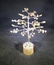 NATURAL MULTI-TOURMALINE GEMSTONE CHIP TREE WITH 100 STONES CRYSTAL TREE OF LIFE
