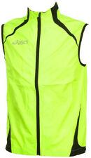Asics Hi-Viz Mens Running Gilet Yellow Lighweight Reflective Windproof Run Vest