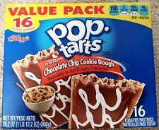 NEW Pop Tarts Toaster Pastries Frosted Chocolate Chip Cookie Dough 16 Count