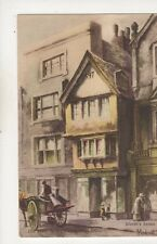 S Endacott Old Shop Facing Exeter Post Office Devon Vintage Art Postcard 573b