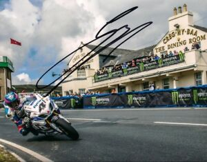 Guy Martin Isle of Man 2014 signed 10 x 8 Creg Ny Baa Picture & proof