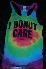 """RARE Victoria's Secret VS LOVE PINK Tie Dye """"I Donut Care"""" Tank Top (X-Small)"""