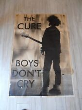THE CURE BOYS DON'T CRY ORIGINAL CONCERT GIANT POSTER 1980s VINTAGE NEW WAVE