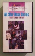 starlicks ALL STAR BASS SERIES right hand technique     VHS VIDEOTAPE