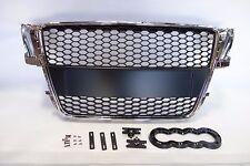 Front Matte Chrome Grille for Audi A5, 08-10, GR-A5-0810-RS-BR-CM. (Fits Audi)