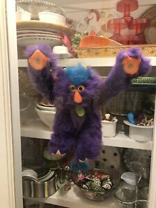 Vintage Russ Berrie Weirdo Willy Toy Plush 15 inches Color Purple/Orange Monster