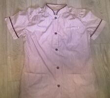Ladies uniform tunic NHS Cleaner Carer salon Size 10-12 NEW red white stripe