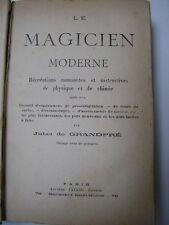 De Grandpré : LE MAGICIEN MODERNE 1878 prestidigitation cartes escamotages...