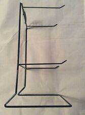 """LOT OF 10 4 PEG COUNTER WIRE RACK, BLACK COLOR, PRICE HOLDER, 12""""x7""""x6"""" NEW"""