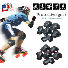 Usa Adult Wrist Elbow Knee Pad Skateboard Skate Bike Protective Gear Guard Set