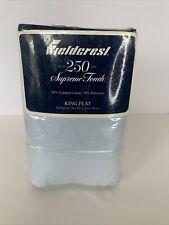 Fieldcrest Blue Sky King Flat Sheet 250 Thread Count Supreme Touch