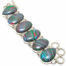 "Rainbow Calsilica 925 Sterling Silver Jewelry Bracelet 7-8"" LB-1035"