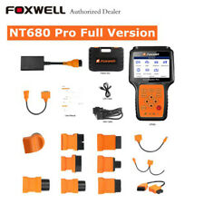 Foxwell NT680 Pro All-Make OBD2 Scanner with Special Functions+All Adapters Full