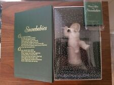 """Snowbabies """"I'll Play A Christmas Tune"""" Sitting on Drum - In Box Department 56"""