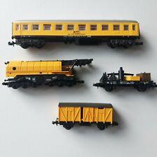 N Gauge Ibertren telescopic crane & RENFE support train 517 rare Yellow unboxed