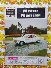 MOTOR MANUAL magazine December 1962 vintage car Dodge Phoenix EJ HOLDEN Caravan