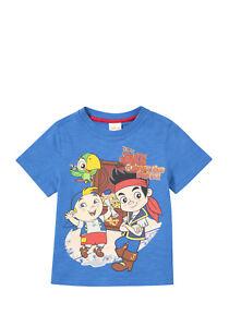 BNWT, Disney, Jake &The Neverland Pirate, Tshirt, Blue, Sz 2, 3 yrs, 100% Cotton