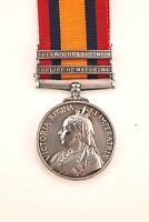 QSA QUEENS SOUTH AFRICA MEDAL 2 BAR CLASPS LADYSMITH MAFEKING BOER WAR