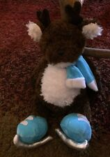 """Ganz Tubby Tummies Reindeer With Scarf And Skates 12"""""""