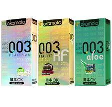 30Pcs OKAMOTO Ultra Thin 003 Platinum Real Fit Aloe Lubricated Latex Condom SET