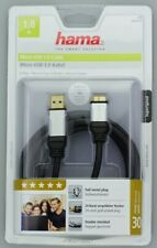 Hama USB 3.0 Verbindungskabel Micro A auf Micro B Stecker Adapter USB Kabel USB3