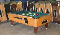 8' VALLEY COIN-OP POOL TABLE MODEL ZD7 WITH GREEN CLOTH ALSO AVAIL IN 6 1/2', 7'