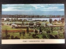 Fort Vancouver in 1885 Richard Schlecht Painting, Washington WA Postcard Unused