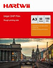 More details for a3 ohp film inkjet  overhead projector clear film with white strip - 60sheets