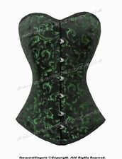 Heavy Duty 26 Double Steel Boned Waist Training Brocade Overbust Corset 9974-BRO