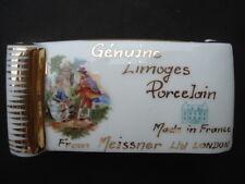 Escaso genuino Limoges Porcelana Hecho En Francia De Meissner Ltd London Placa