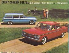 Chevrolet Corvair 1961 USA Market Foldout Brochure Sedan Coupe Wagon Monza