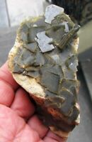 BARITE GREEN PHANTOM CRYSTALS on SANDSTONE as MATRIX from PERU....GORGEOUS PIECE