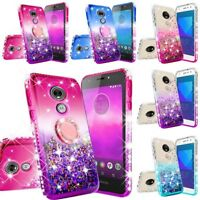 For Motorola Moto E5 Plus / Moto E5 Supra Luxury Liquid Glitter Phone Case Cover