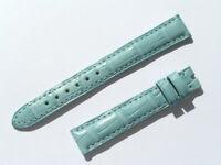 14mm Chopard Uhren Armband Ersatzband Lederarmband Croco blau 70/105 neu C14-12