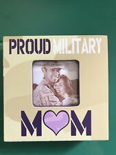 "NIB Veteran Soldier 4""x4"" Proud Military Mom Picture Frame Holds 2.5""x2.5"" Photo"