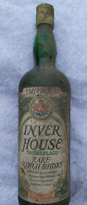 Kellerfund 1 Flasche Inver House Rare Scotch Whisky Green Plaid 0,75 L ca 70er J