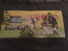 1968 FLEER BASEBALL IRON ONS UNOPENED BOX  BBCE SEALED & AUTHENTICATED  24 PACKS