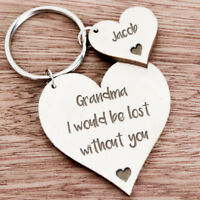 Personalised Mothers Day Birthday Gifts For Her Grandma Mum Nan Xmas Keyring K34