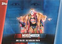 2019 Topps WWE Women's Division Mixed Match Blue Awe-ska Fabulous Truth 16/25
