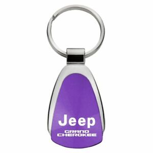 Jeep Grand Cherokee Key Ring Purple Teardrop Keychain