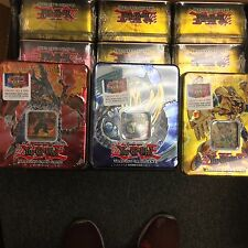 YuGiOh 2007 Collectors Tin Rainbow Dragon Volcanic Doomfire Elemental Hero SET