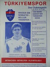 Programm 1988/89 Türkiyemspor Berlin - Traber FC
