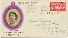 """2451 1953 QEII Coronation 2 1/2d FIRST DAY """"LONDON S.W.I. - LONG LIVE THE QUEEN"""""""