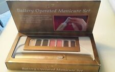 Schildkraut Battery Operated Manicure Kit ~  Gold, New In Box