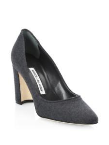Manolo Blahnik Tucciototo Block Heel Pumps 38 MSRP: $665.00