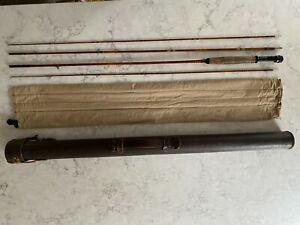"""Gene Edwards Signed Quadrate Reg Vintage Bamboo Fly Rod (3 piece) 8'6"""" #50"""