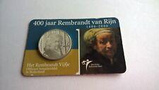 Nederland 2006 Coincard 5 Euro Zilver 400 Jaar Rembrandt van Rijn