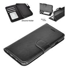 Handy Tasche Flip Case Cover Klapp Schutz Hülle Schale Etui Book in Schwarz